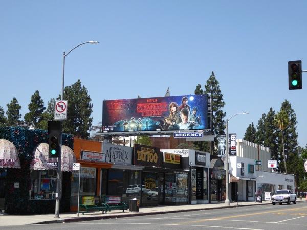 Stranger Things TV billboard