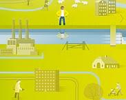 uitsnede cover Waterbeheer op weg naar 2045 : verkenningen op verzoek van waterschap Zuiderzeeland