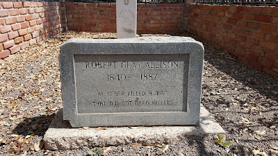 The headstone for Pecos Texas gunslinger Robert Clay Allison.
