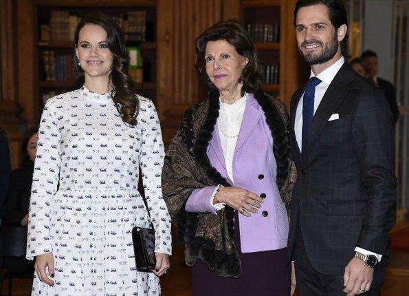 Princess Sofia wore RODEBJER Palasan Dress. Queen Silvia, Princess Sofia Hellqvist and Prince Carl Philip