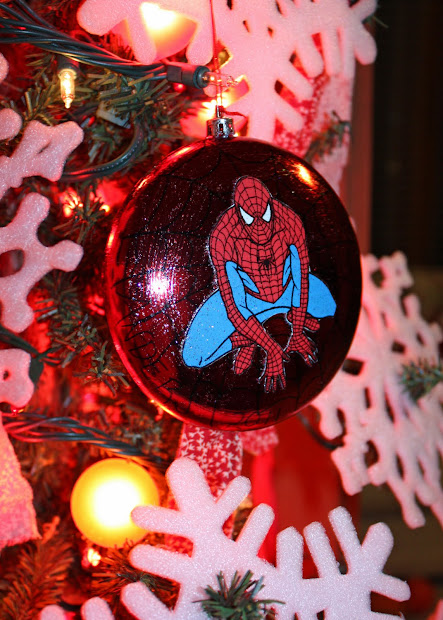 Peepers Spiderman Christmas Ornament
