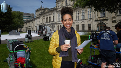 First Doctor Who Series 10 Filming Photo pearl mackie cardiff university