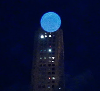 bright blue orb
