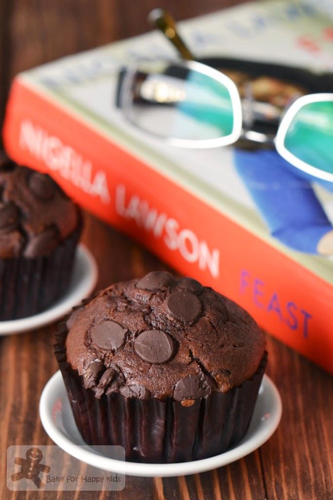 chocolate chocolate chip muffins Nigella Lawson