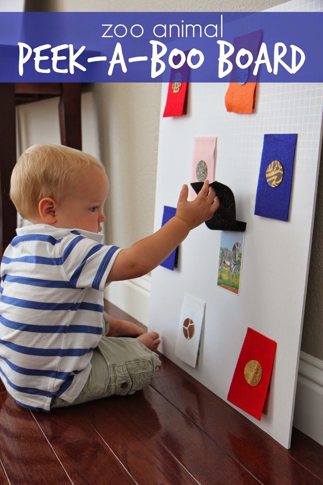 Toddler Approved Zoo Animal Peek A Boo Board