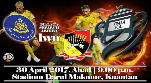 Live Streaming Pahang vs Negeri Sembilan 30.4.2017 Piala FA