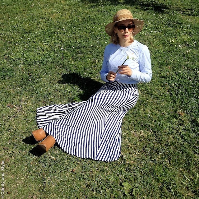Stripes and Straw Hat | Candy and Style