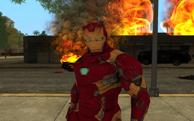 Free Download iron Man Mod With Power For GTA San Andreas PC