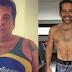 Leandro Hassum posa sem camisa e mostra abdômen após perder 62 kg