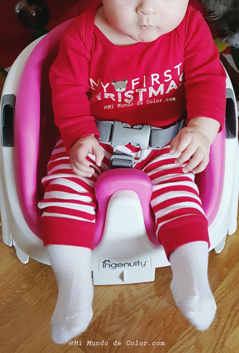 mi bebe en una silla ingenuity bright starts