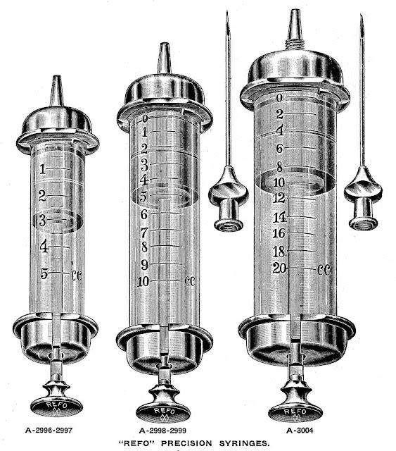 vintage syringe, 1910, thrilling grief, gerry lagendyk