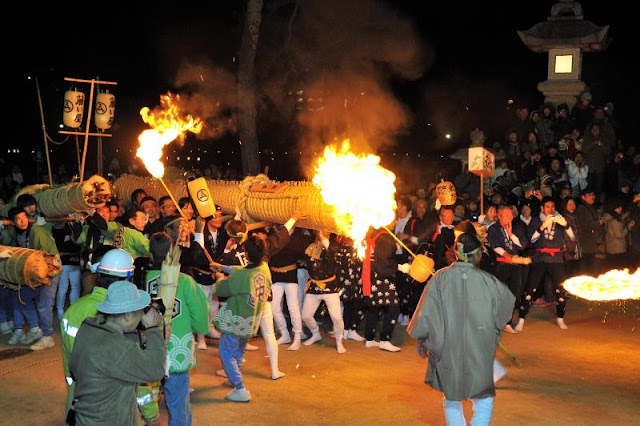 Itsukushimja Shrine Fire Festival, Hatsukaichi City, Hiroshima Pref.