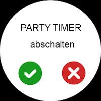 Mockup: Android Wear für ComfoControl - Party Timer abschalten