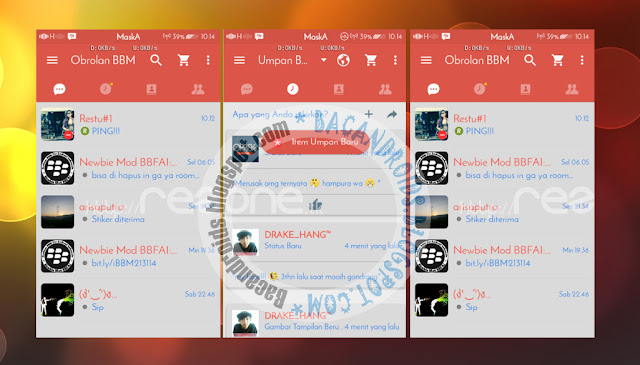 BBM Mod Tema RedGrey Apk Versi 2.13.1.14 New