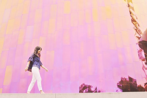 most instagrammable places in seattle MoPOP wall