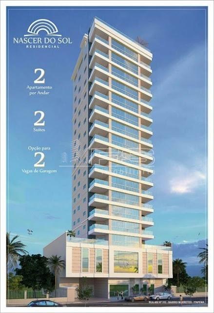 V2207 - NASCER DO SOL RESIDENCIAL - Apartamento 2 suítes - 1 a 2 vagas de garagem - bairro Morretes - Itapema/SC