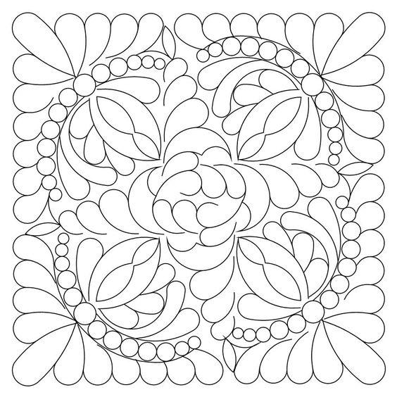 Tranh tô màu trang trí hình vuông họa tiết đối xứng