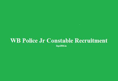 WB Police Jr Constable Recruitment 2016