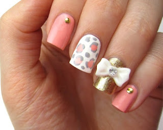Stylish-and-Cute-Nail-Designs-with-Bows-and-Diamonds-for-Girls-11