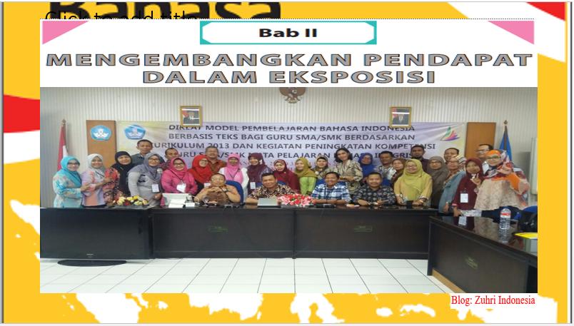 Materi Pembelajaran Teks Eksposisi Zuhri Indonesia