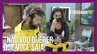 A Fazenda 12 - Cartolouco conversa com Luiza  e discute com JP - Mirella repete alerta