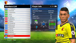 Update Option File PES 2016 Transfer 21 Agustus 2016 For PES Professionals v4.2 by Jovan Roy Villiardy