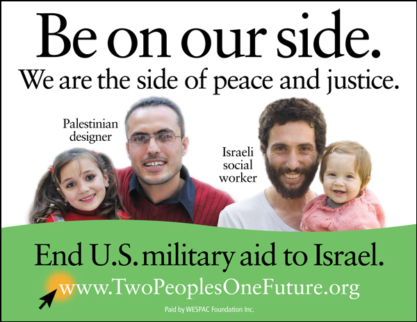 Be on the side of Peace and Justice: End U.S. military aid to Israel