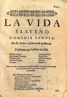 Ejemplar de 'La vida es sueño' de Calderón de la Barca, poeta admirado por Wagner.