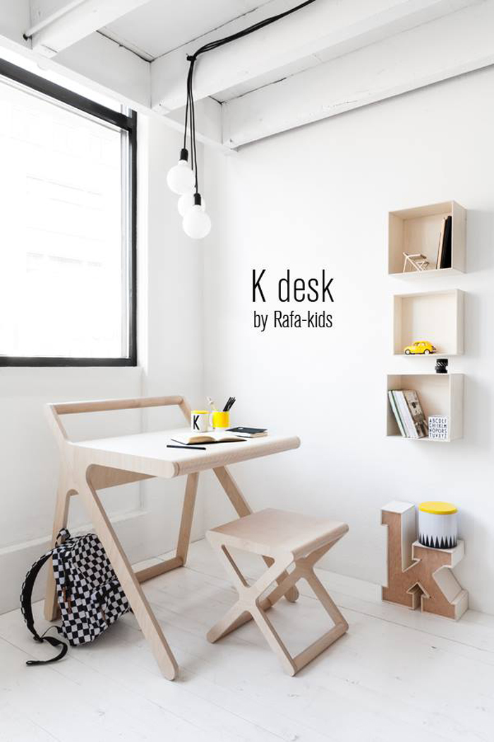 K desk + x stool Rafa-kids