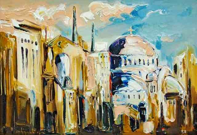 Смесь абстракции и реализма. Stojan Duric
