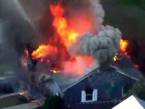 Múltiples explosiones de gas en casi 40 casas en tres ciudades de Massachusetts