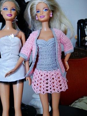 Vestido de crochê para Barbie passo a passo PAP 3