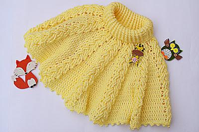 5 - Crochet ganchillo IMAGEN Capita amarilla fácil de hacer. Muy linda.MAJOVEL CROCHET