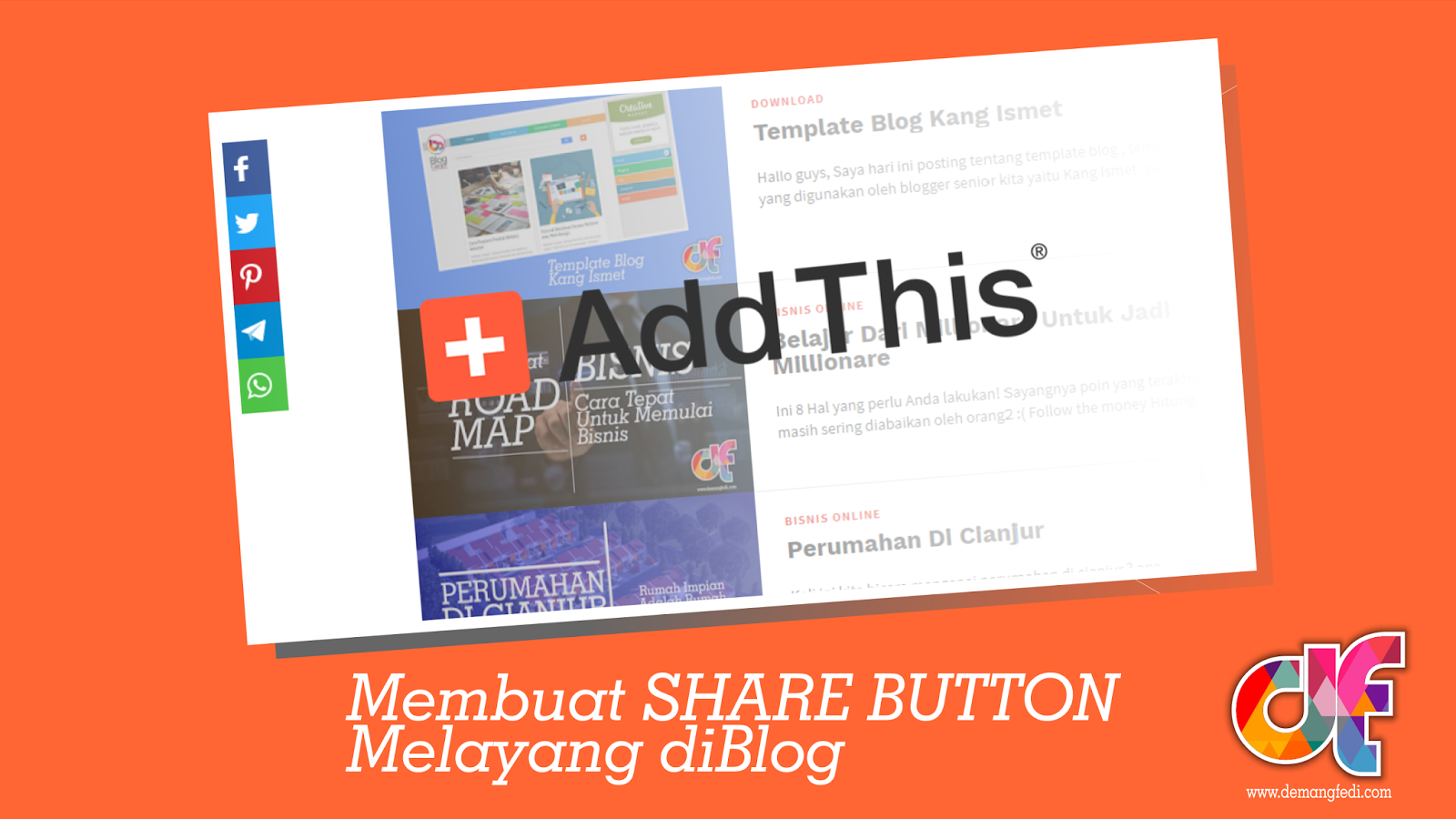 Cara Membuat Share Button Melayang
