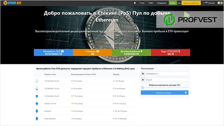 EtherBee обзор и отзывы HYIP-проекта