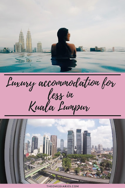 Luxury accommodation for less in Kuala Lumpur Pinterest graphic
