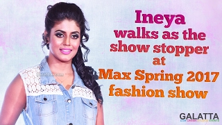 Ineya walks as the show stopper at max Spring 2017 fashion show