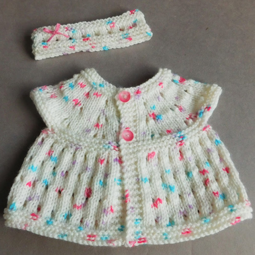 Carla Baby Top, Headband & Hat - Free Pattern