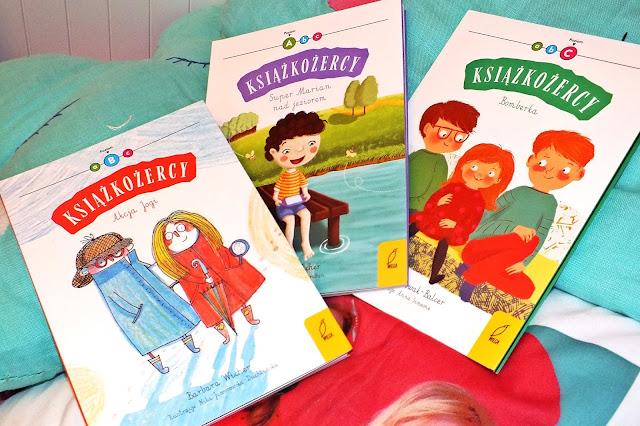 """""""Książkożercy"""" nowa trzy poziomowa seria książek dla dzieci, które uczą się czytać"""