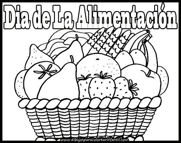 Dia de la alimentacion dibujo para colorear - Imagui
