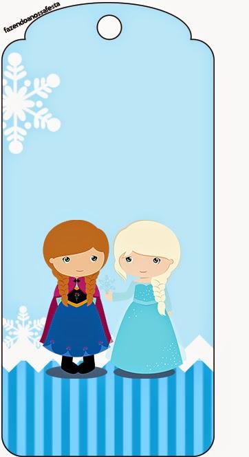 Marcapaginas de Frozen Niñas para Navidad Azul.