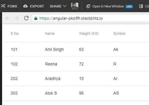 Angular Material Data Table - Mat-Table Example - Angular
