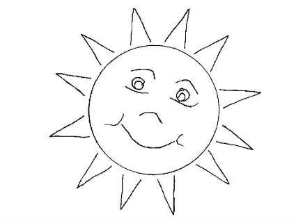 Coloring Pages Sun - Eskayalitim