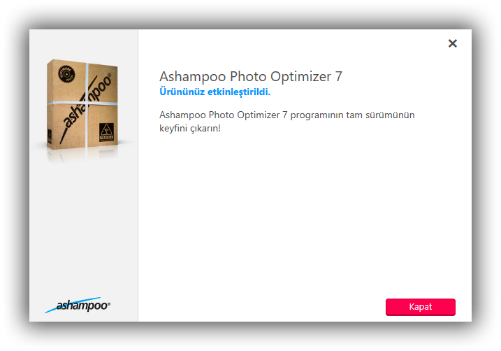 Ashampoo Photo Optimizer 7 - Katılımsız Program