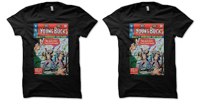 "San Diego Ccomic-Con 2018 Exclusive The Young Bucks ""Earth's Mightiest Tag Team"" T-Shirt by Awesome Conventions Exclusives"