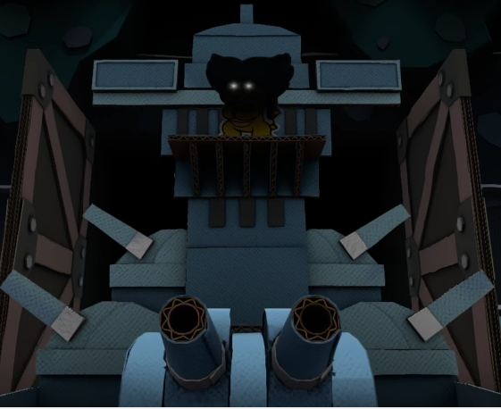 Captain Ludwig Von Koopa pirate ship Paper Mario Color Splash sihoulette glowing eyes shadow
