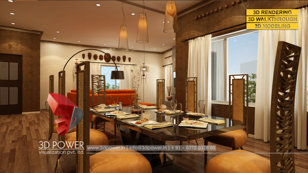 3d interior designs interior designer for Dining hall interior design