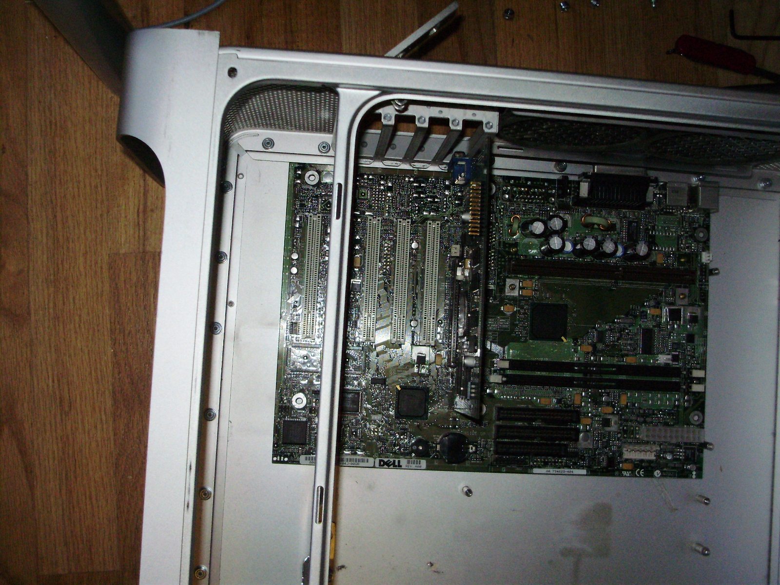 Buildits How To Fit Your Pc In A Power Mac G5 Case Accessories Others Repair Parts X3 Motherboard Circuit Board Since The Now Sat Where Hdd Cage Was Mounted I Had Move Forwards So Could Under It For