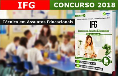 Concurso IFG 2018 Técnico em Assuntos Educacionais