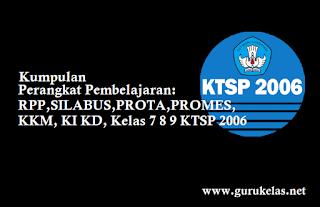 RPP,SILABUS,PROTA,PROMES,KKM, KI KD, Kelas 7 8 9 KTSP 2006